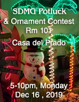 SDMG Potluck and Ornament Contest - Dec 16, 2019